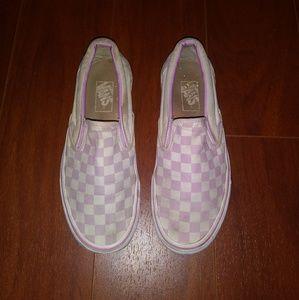 Pink checkered Vans